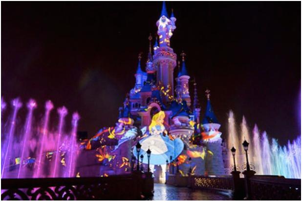 Disneyland at night