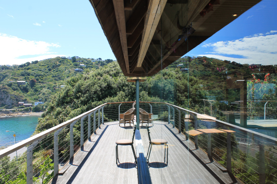 Balcony at The Pines, Houghton Bay Wellington