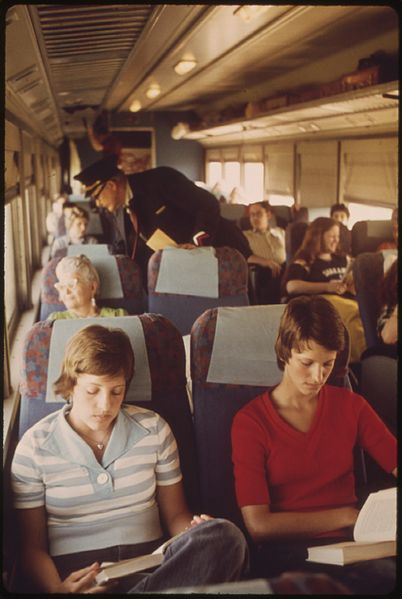 Train-Passengers-EMPIRE_BUILDER_ENROUTE_FROM_CHICAGO_TO_EAST_GLACIER..._-_NARA_-_556096